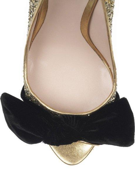 Туфли в золотых блёстках