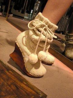 Вязаная обувь