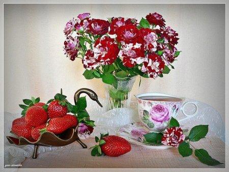 Цветочно-фруктовые натюрморты