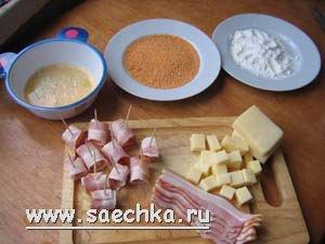 Закуски к пиву: сыр во фритюре