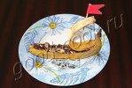 Банановый десерт 'Кораблик'