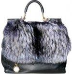 Меховые сумки от Dolce & Gabbana, зима 2011