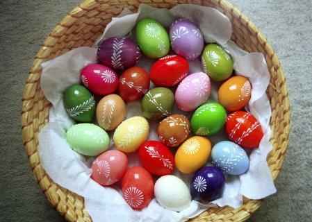 Натуральные краски для пасхальных яиц